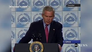 Pandemic George W. Bush Talking PP's 2005 | Prevent + Protect