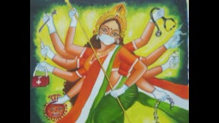 Kali's Limbless Covid Worship And The Man Fool Bathing Her Blue Skin And Cleaning Her Bone Thrown.