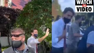 Trudeau Chased Out of BC Neighborhood by Angry Protestors