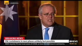 Antagonising Aust. prime minister announces 80% pop. vaxx target (30/7/21) 1 day before protests!