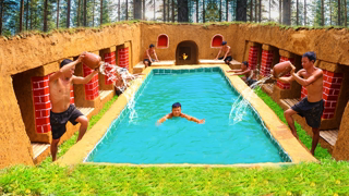 How To Build The Most Amazing Swimming Pool Water Slide Around Underground House