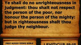 03. Leviticus Chapter 19 - King James Version KJV Alexander Scourby Free Audio Video Bible