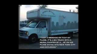 911.The 5 Dancing Jews' Van With The Mural of a Plane Hitting The WTC
