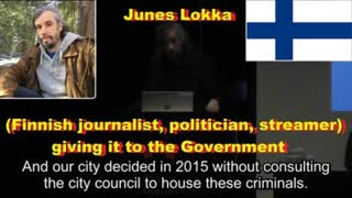 Junes Lokka (Finnish journalist, politician, streamer) giving it to the Government
