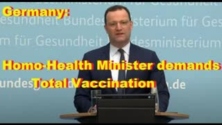 Germany: Homo-Health Minister demands Total Vaccination