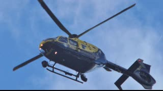NPAS HARASSING ME LOW FLY BREACHING DURING TERROR RAID. G-TVHB NEARLY CRASHED INTO ME