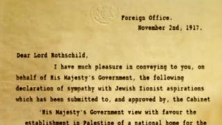 In The Name Of Zion 1: The Rothschild Declaration
