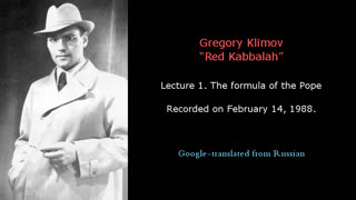 GREGORY KLIMOV - RED KABBALAH 1. THE FORMULA OF THE POPE
