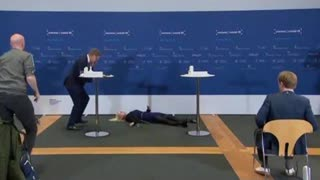 Head Of Denmark's Medicine Agency Faints During Conference Announcing AstraZeneca Discontinuation