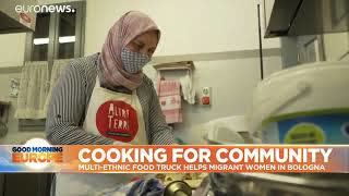 Migrants Cooking In Bologna, Italy