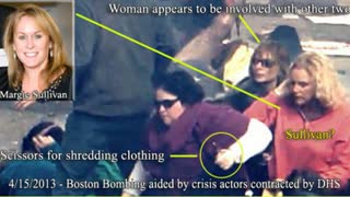 bombshell Boston bombings false flag all crisis actors you can actually see the fake wounds wake up