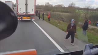 Hungarian Truck Driver Angry at Illegal Immigrants
