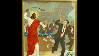 FLIPPING TABLES OF THE CONVID GMO PHARMAKEIA MONEY CHANGERS. BE CHRIST LIKE...