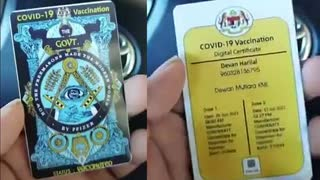 Is This Really the COVID (Certificate Of Vaccination ID) Card... I Mean... Come On.