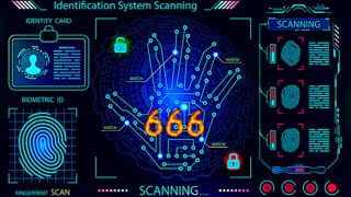 If You Still can't See You're Spiritually Blind 666 Right Hand Scanner (Grocery Store)