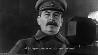 Stalin's victory broadcast to the Soviet people (9 May 1945) [Subtitled]