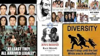 The Zionist Jews plan to create a slave race through race mixing.