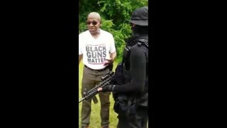 Armed Black Terrorists Group Want War And Death To Whites In America