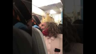Burger King Guy Says Kick That Bitch Off The Plane!