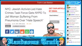 174th GOYIMTV.COM LIVESTREAM: Woman Jailed in USA for Fliers & Covid Jew Flu Exposed!