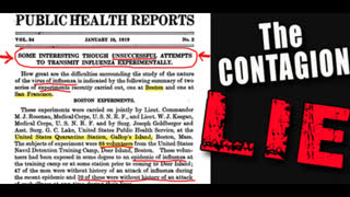 EARTH-SHATTERING Proof!! People CANNOT Transmit Disease - Straight from the CDC!
