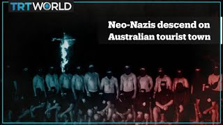 Australian Neo-Nazi group causes panic in tourist town