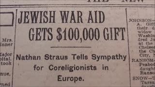 Part5/9 New York Times, May 7th, 1920. JEWISH WAR AID GETS $100,000 GIFT.
