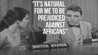 1959 high school students from South Africa, Ghana, Greece & USA discuss prejudice & race relations