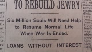 Part2/9, The New York Times, October 18th 1918. $1,000,000,000 FUND TO REBUILD JEWRY.