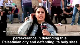 """PA TV reporter: Arab rioters prevent Jews from """"desecrating"""" Jerusalem"""
