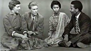 1955 High School Exchange Students from Indonesia, Ghana, South Africa & Denmark discuss race