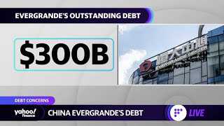 China Evergrande's $300 billion debt causes concerns about a potential collapse