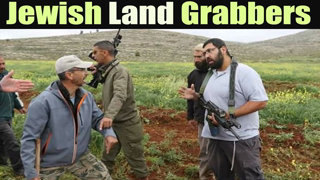 Arms Jewish Settlers occupied Palestine farmer's land