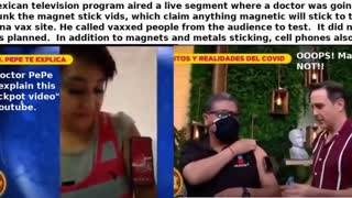 MEXICAN TV TRIES TO DEBUNK MAGNETIC VAX AND FAILS DURING LIVE BROADCAST - JSF