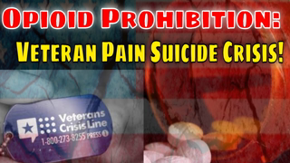 Untreated Pain Veteran Suicide Crisis! New Study proves the damage of Opioid Prohibition!