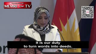 Iraqi Official Dr. Sahar Al-Ta'i at a Peace Conference in Erbil: We Want Peace with Israel....This is how (they) have subverted and Kurdish leadership and leadership world wide. Boot lickers get the promotion