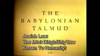 Inside the Evils of the Jewish Talmud - BANNED FROM YOUTUBE
