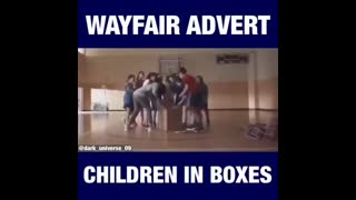 Wayfair commercial glorifying human trafficking