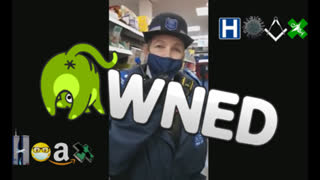 POLICE WOMAN ENFORCING MASKS GETS UTTERLY OWNED