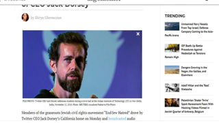 Jewish Activists Broadcast Messages Taken From Twitter Outside Home of CEO Jack Dorsey