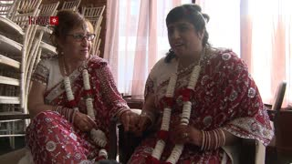 Exclusive: UK FIRST interfaith lesbian wedding with Hindu and Jewish woman