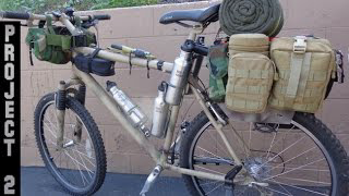 Stealth Bug Out Survival Military Vehicle & Camping Bicycle