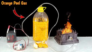 Making Fuel Gas From Orange peel! EXPERIMENT: Is Limonene Flammable