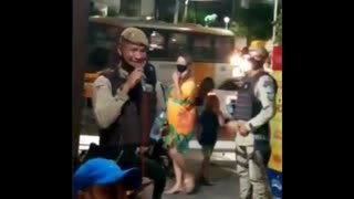 Meanwhile, in Brazil.. police are called on bar that is open during curfew, and people without masks