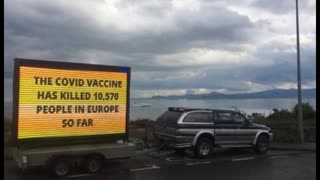 Irish Police Attempt To Steal Trailer Informing The Public About Vaccine Deaths And Injuries
