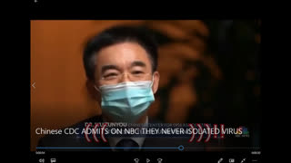CCP Wumao confesses with a mask on that the virus wasn't isolated