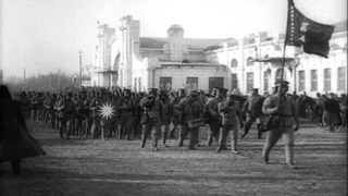 The Siberian Intervention during the World War I era. Czech legion and Japanese t...HD Stock Footage