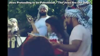 """Canadian Jews Pretending to be Palestinian Chant, """"The Jews Are Our Dogs"""""""