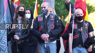"""Spain: Far-right groups pay tribute to Francoist """"Blue Division"""" force"""