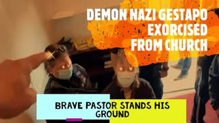 The Balls That It Takes To Beat The JWO.  Brave Pastor Kicks Gestapo Out Of Church